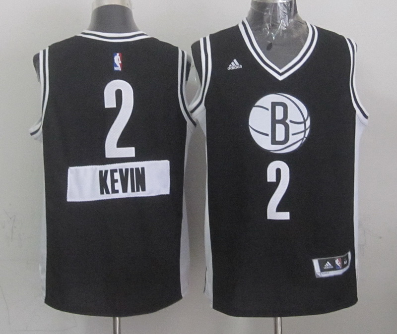 Nets 2 Kevin Garnett Black 2014-15 Christmas Day Swingman Jerseys