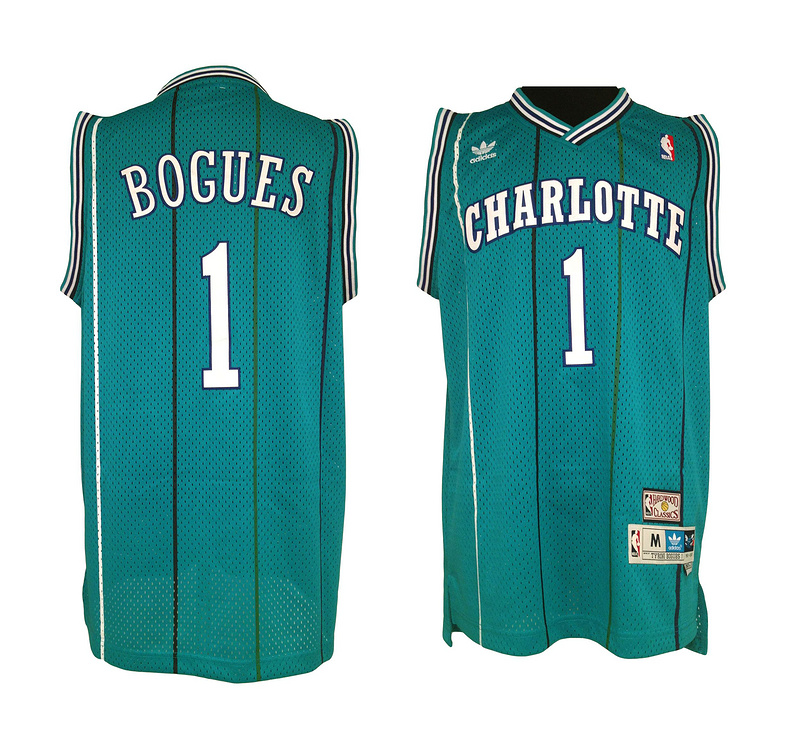 Hornets 1 Tyrone Bogues Green New Revolution 30 Jerseys