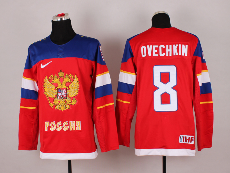 Russia 8 Ovechkin Red 2014 Olympics Jerseys
