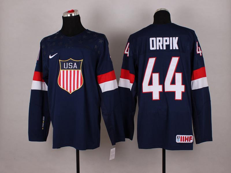 USA 44 Orpik Blue 2014 Olympics Jerseys