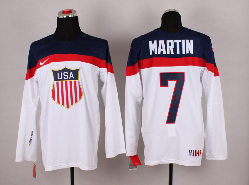 USA 7 Martin White 2014 Olympics Jerseys