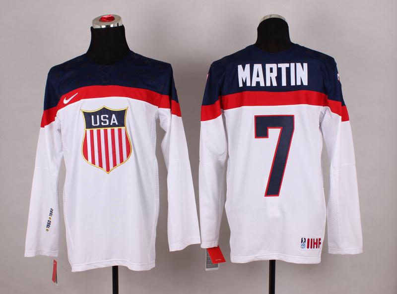 USA 7 Martin White 2014 Olympics Jerseys