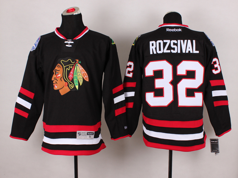 Blackhawks 32 Rozsival Black 2014 Stadium Series Jerseys