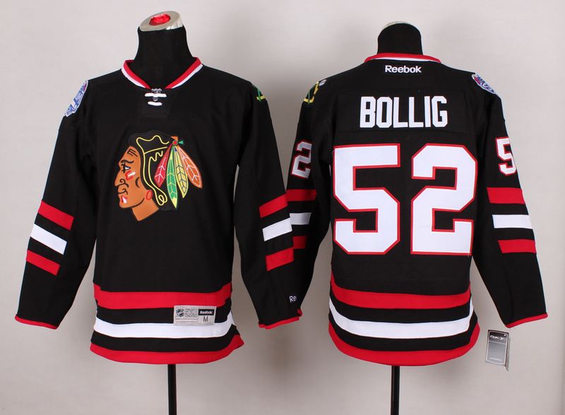 Blackhawks 52 Bollig Black 2014 Stadium Series Jerseys