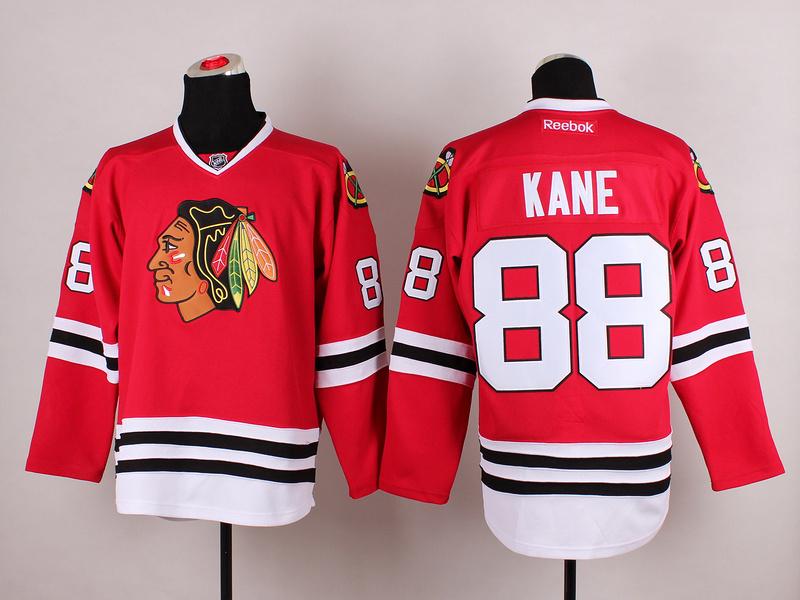 Blackhawks 88 Kane Red 2014 Stadium Series Jerseys