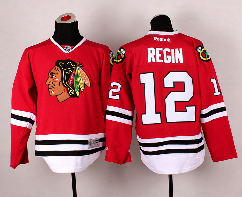 Blackhawks 12 Regin Red 2014 Stadium Series Jerseys