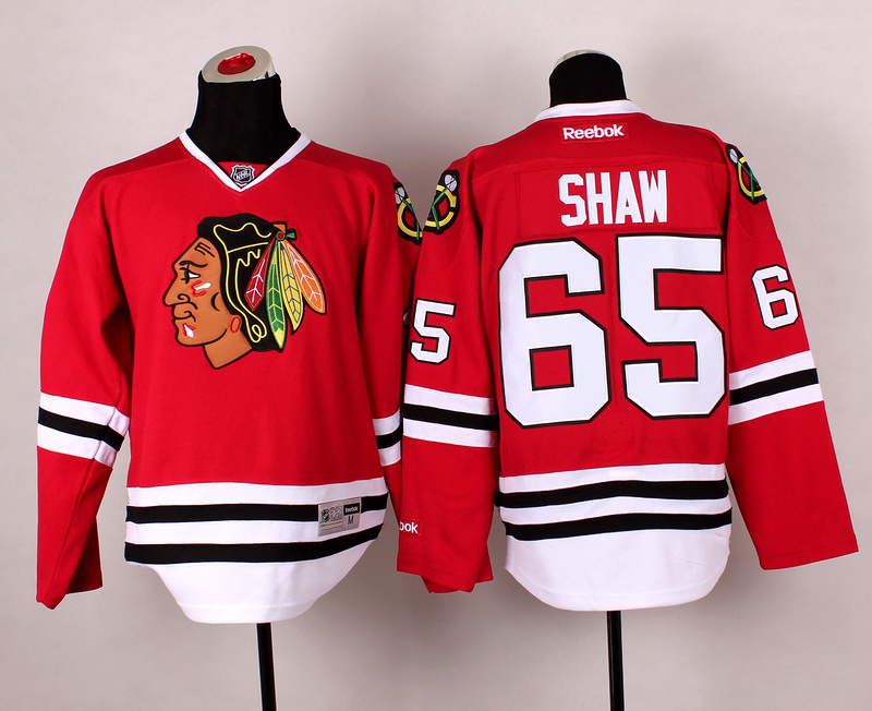 Blackhawks 65 Shaw Red 2014 Stadium Series Jerseys