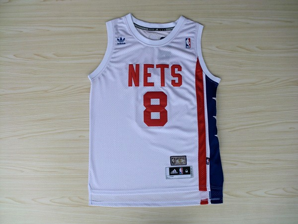 Nets 8 Williams White Hardwood Classics Swingman Jerseys