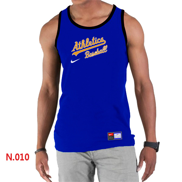 Nike Oakland Athletics Home Practice Men Tank Top Blue