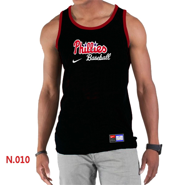 Nike Philadelphia Phillies Home Practice Men Tank Top Black