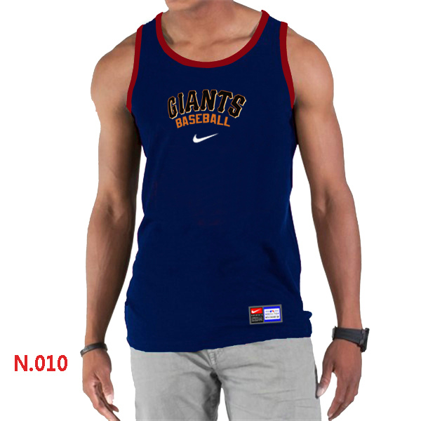Nike San Francisco Giants Home Practice Men Tank Top D.Blue
