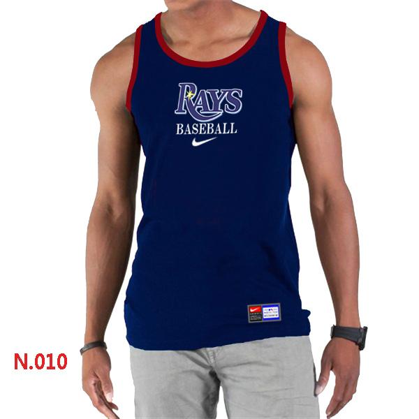 Nike Tampa Bay Rays Home Practice Men Tank Top D.Blue