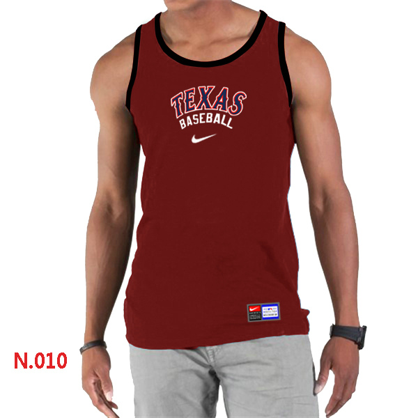Nike Texans Rangers Home Practice Men Tank Top Red