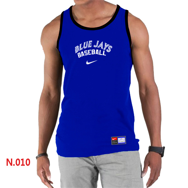 Nike Toronto Blue Jays Home Practice Men Tank Top Blue