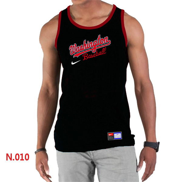 Nike Washington Nationals Home Practice Men Tank Top Black