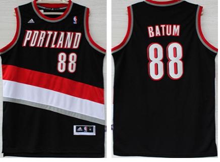 Blazers 88 Batum Black New Revolution 30 Jerseys