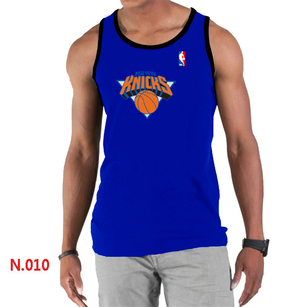 New York Knicks Big & Tall Primary Logo Men Blue Tank Top