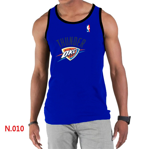 Oklahoma City Thunder Big & Tall Primary Logo Men Blue Tank Top
