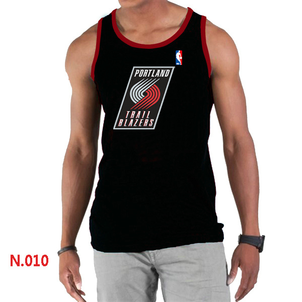 Portland Trail Blazers Big & Tall Primary Logo Men Black Tank Top