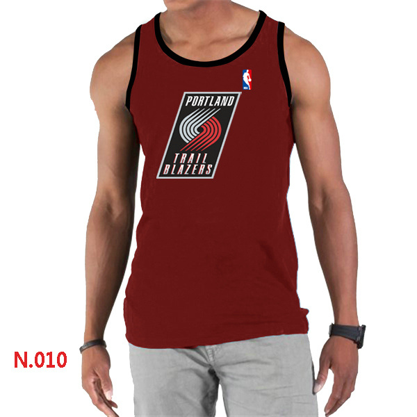 Portland Trail Blazers Big & Tall Primary Logo Men Red Tank Top