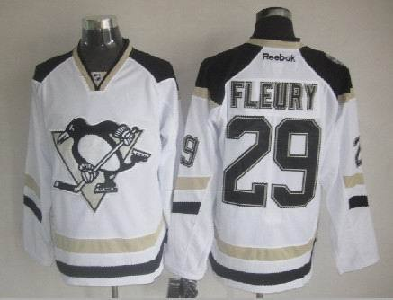 Penguins 29 Fleury White 2014 Stadium Series Jerseys