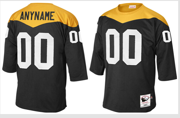Pittsburgh Steelers Mitchell & Ness Black Customized Jersey