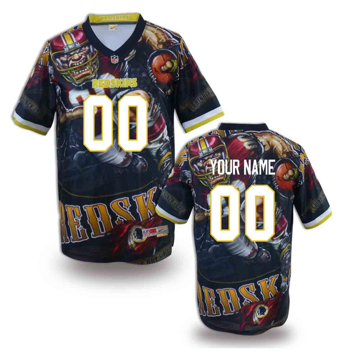 Nike Redskins Customized Fashion Stitched Jerseys10
