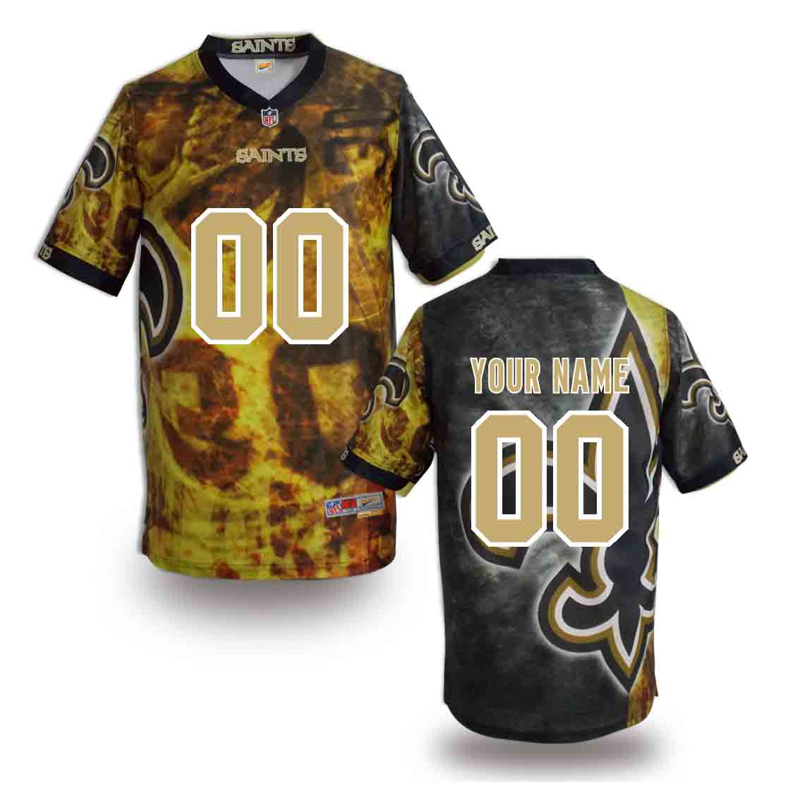 Nike Saints Customized Fashion Stitched Jerseys02