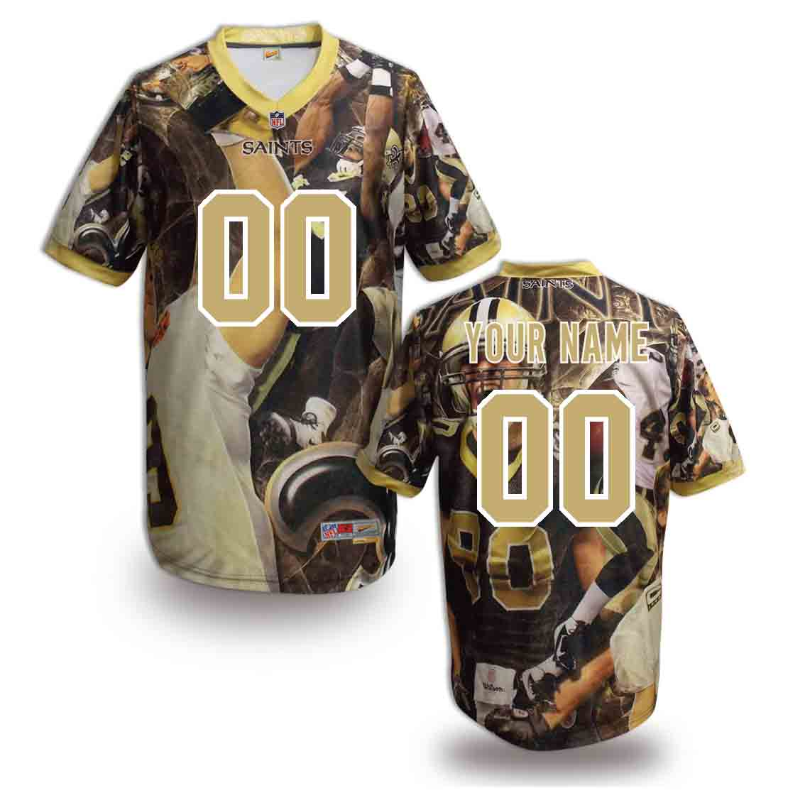 Nike Saints Customized Fashion Stitched Jerseys03
