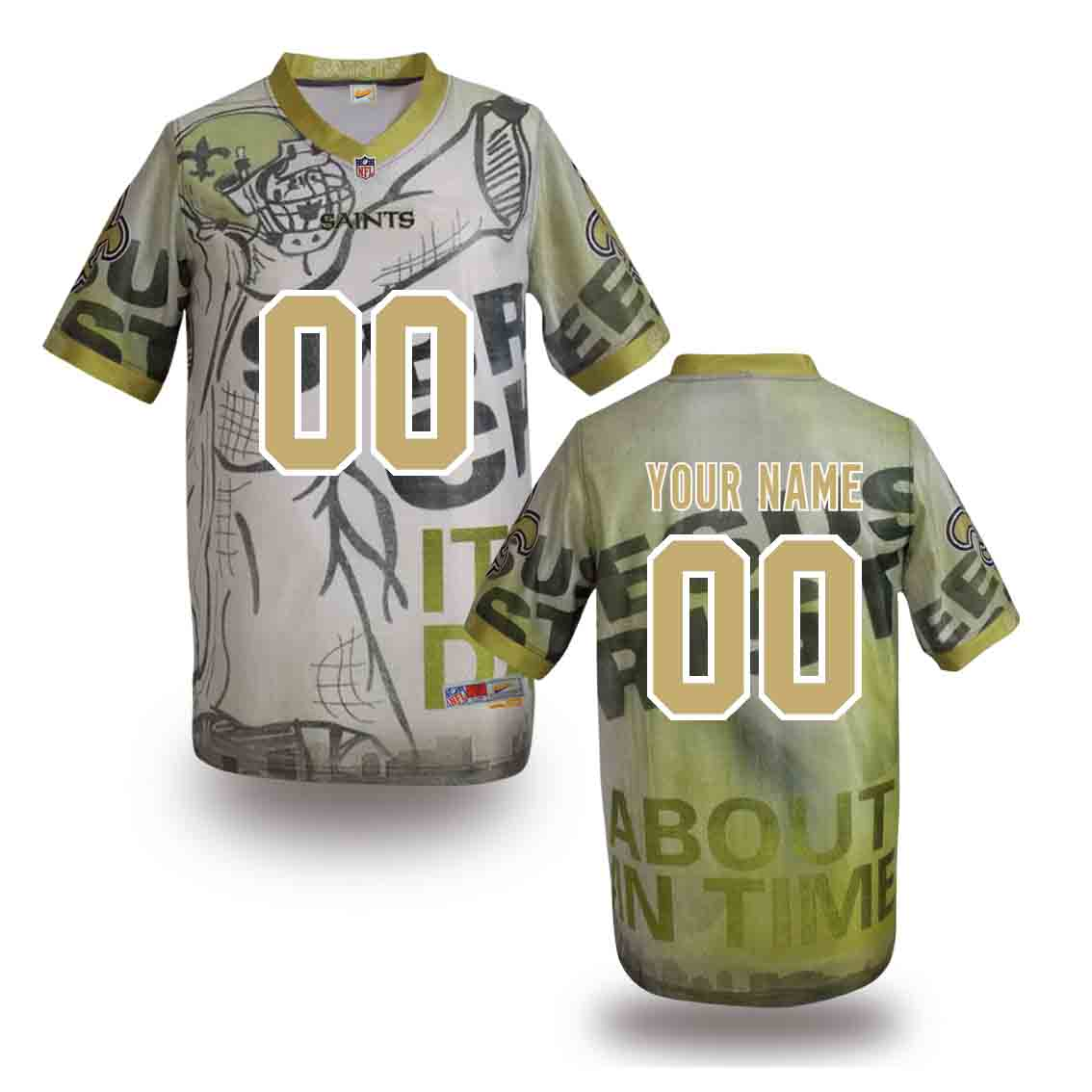Nike Saints Customized Fashion Stitched Jerseys05