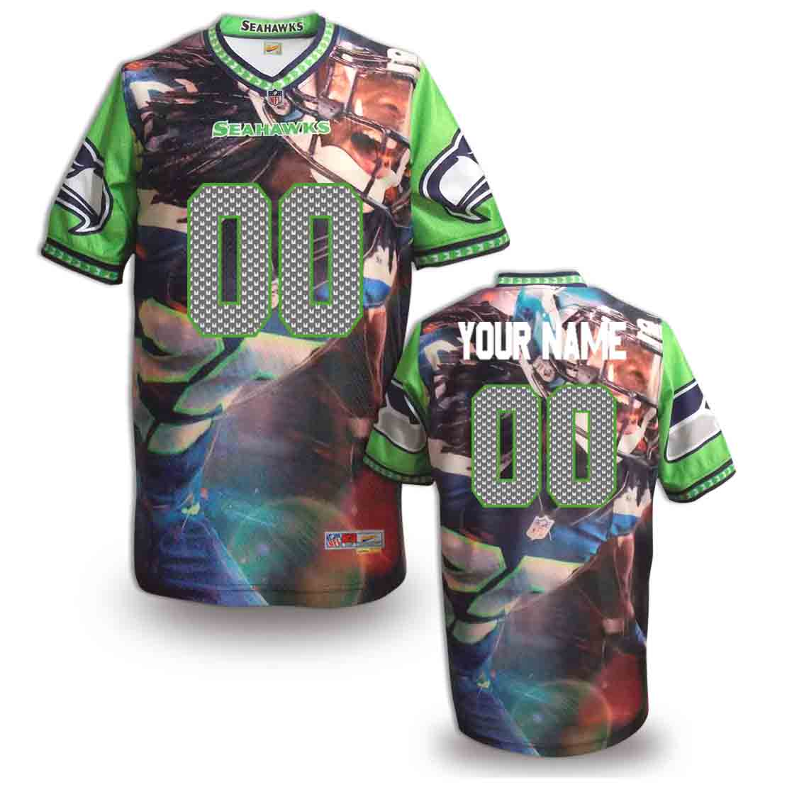 Nike Seahawks Customized Fashion Stitched Jerseys01