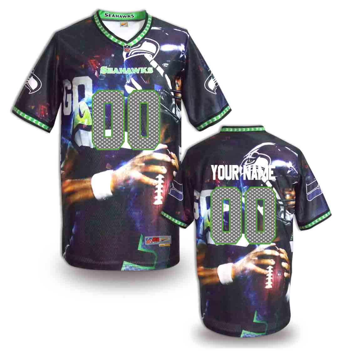 Nike Seahawks Customized Fashion Stitched Jerseys10