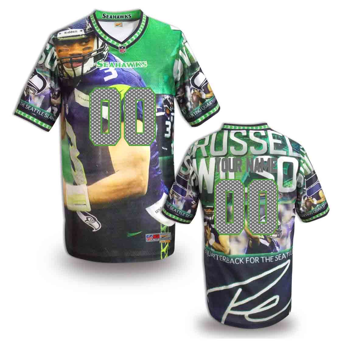 Nike Seahawks Customized Fashion Stitched Jerseys11