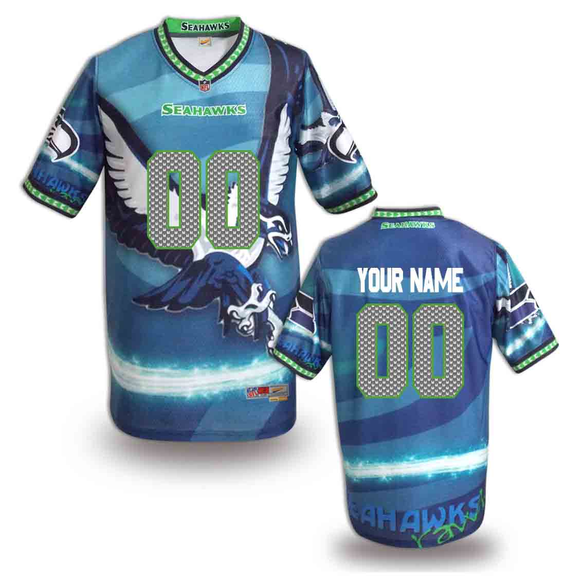Nike Seahawks Customized Fashion Stitched Jerseys15