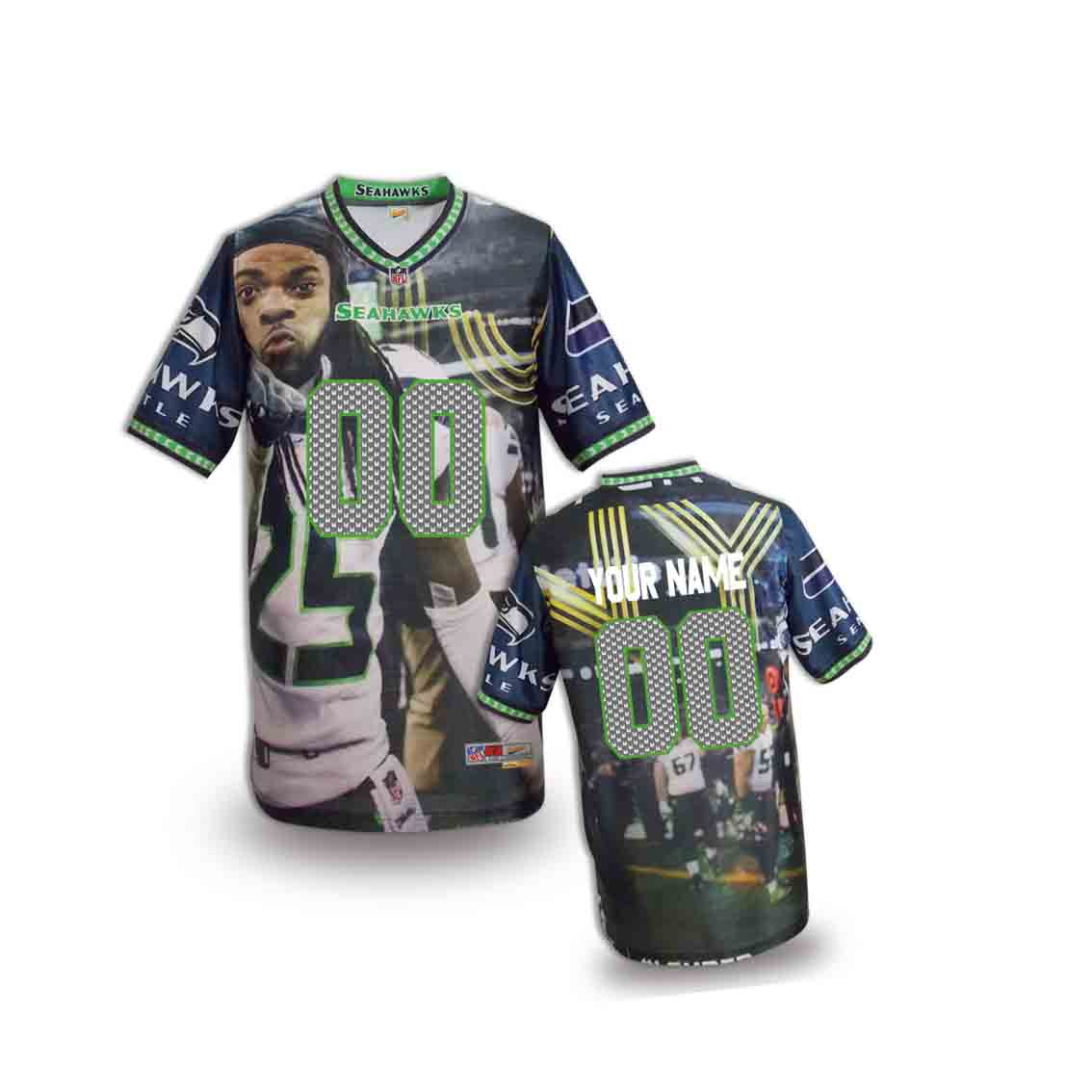 Nike Seahawks Customized Fashion Stitched Youth Jerseys04