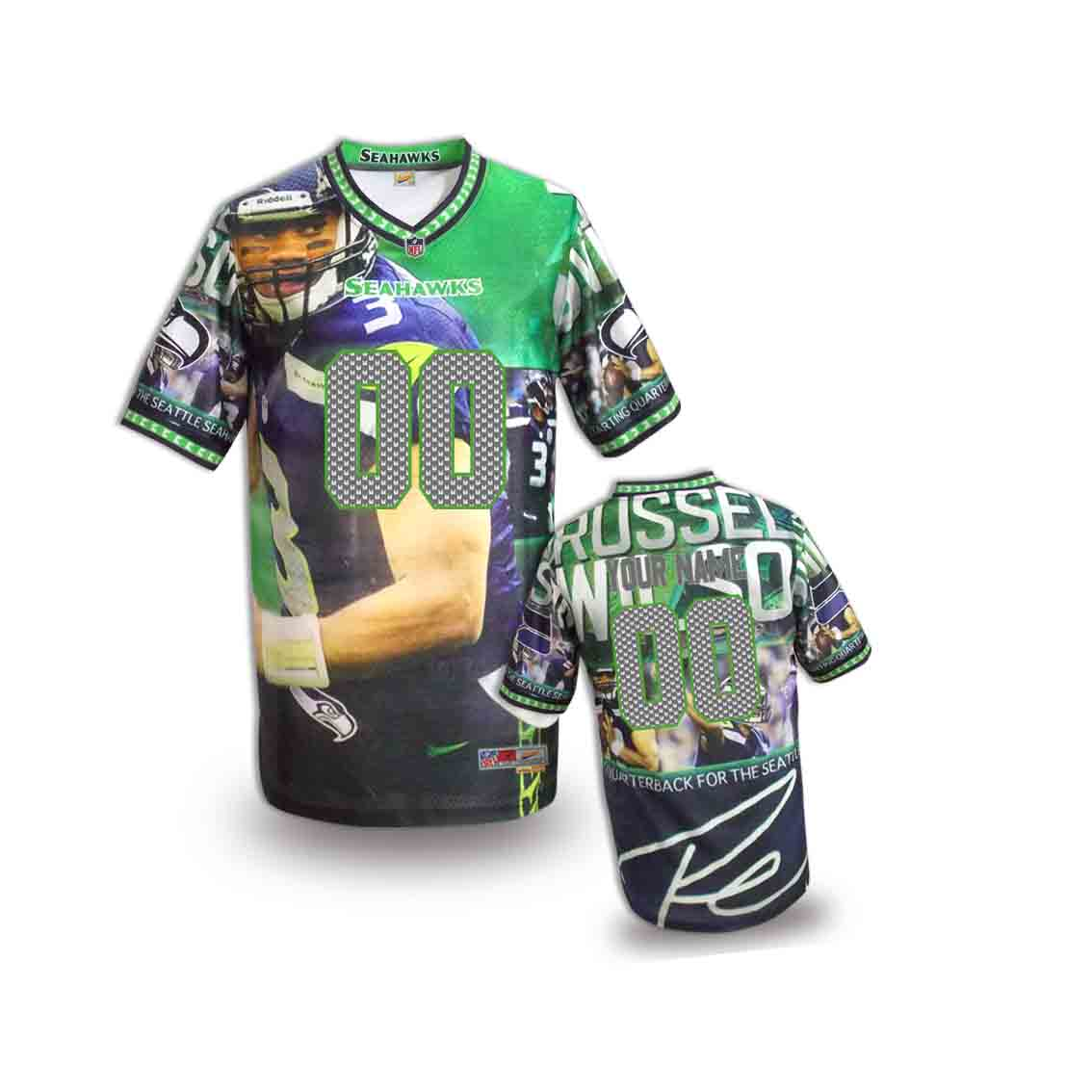 Nike Seahawks Customized Fashion Stitched Youth Jerseys06