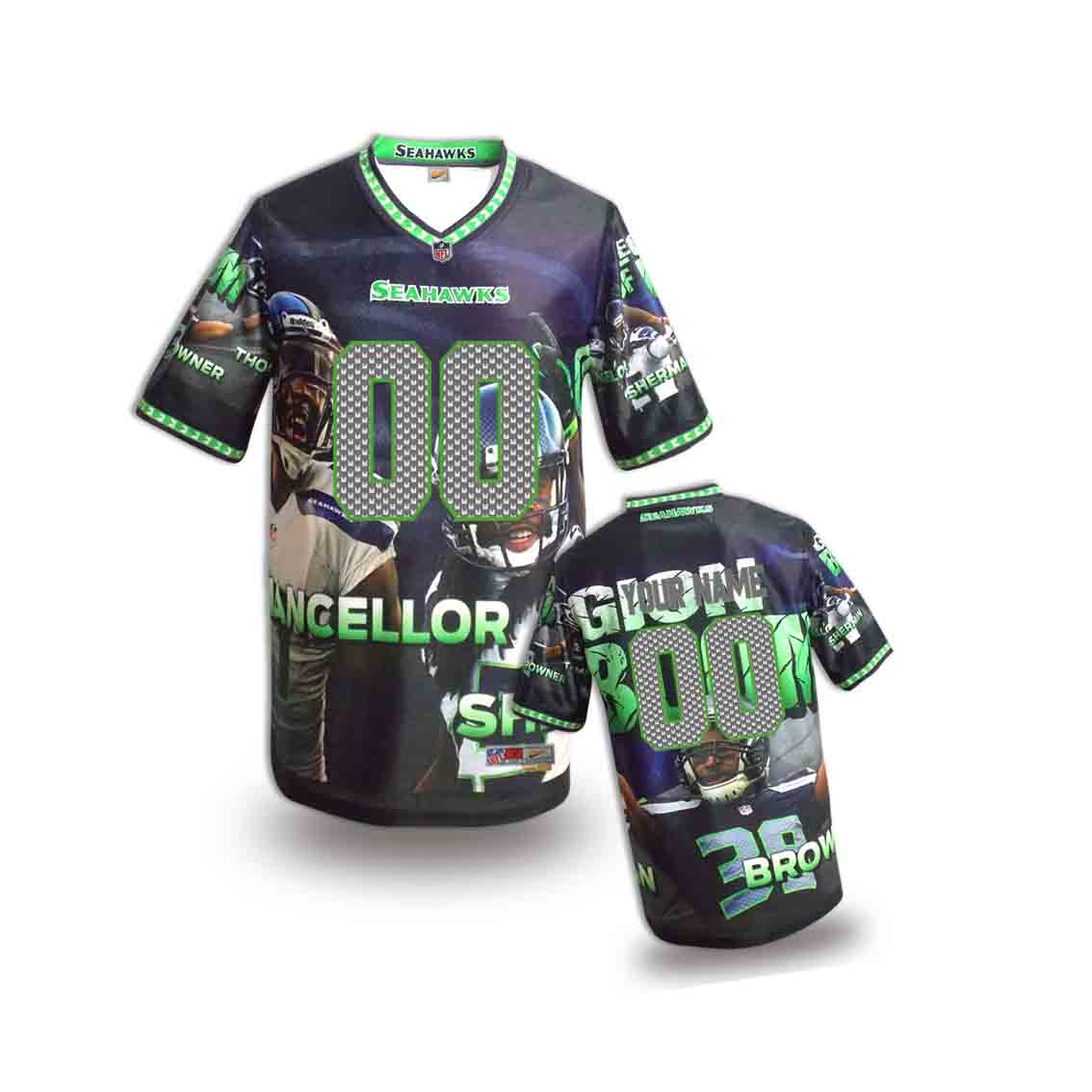 Nike Seahawks Customized Fashion Stitched Youth Jerseys09