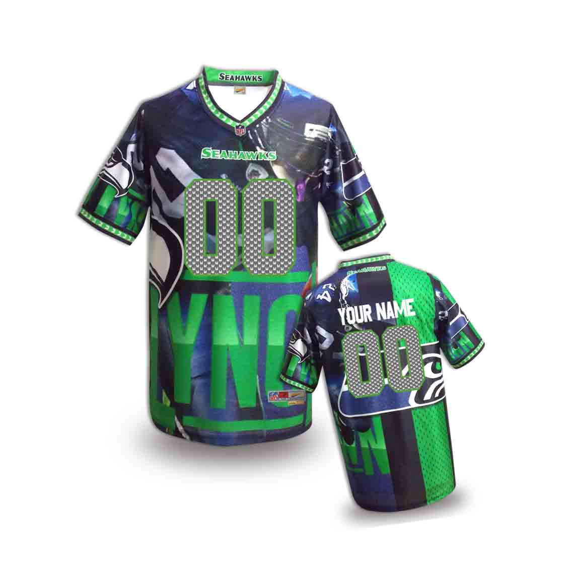 Nike Seahawks Customized Fashion Stitched Youth Jerseys13