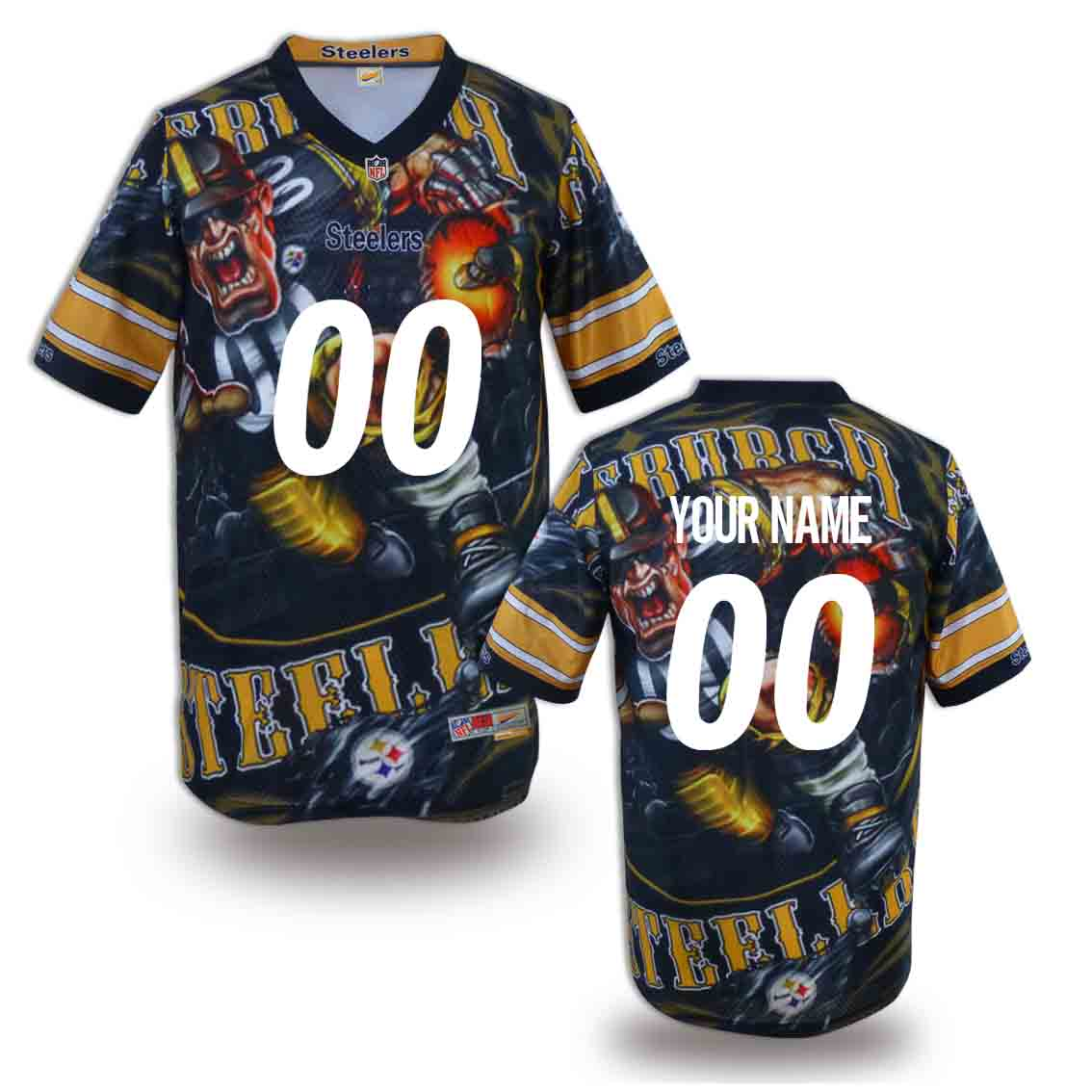 Nike Steelers Customized Fashion Stitched Jerseys07