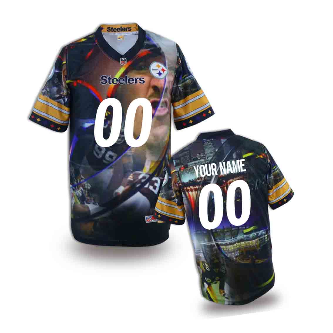Nike Steelers Customized Fashion Stitched Youth Jerseys02