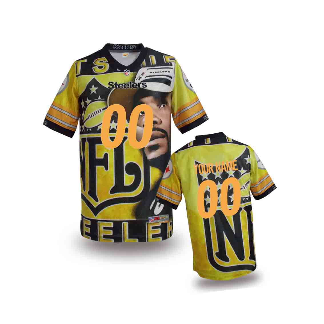 Nike Steelers Customized Fashion Stitched Youth Jerseys03