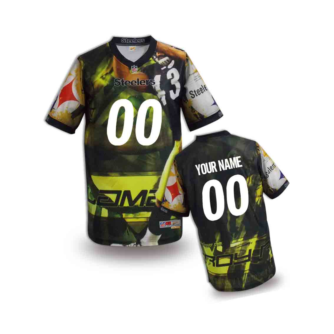 Nike Steelers Customized Fashion Stitched Youth Jerseys06