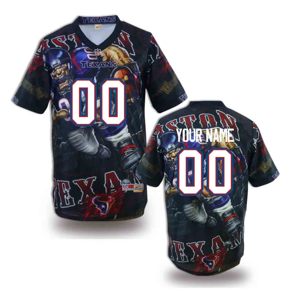 Nike Texans Customized Fashion Stitched Jerseys02