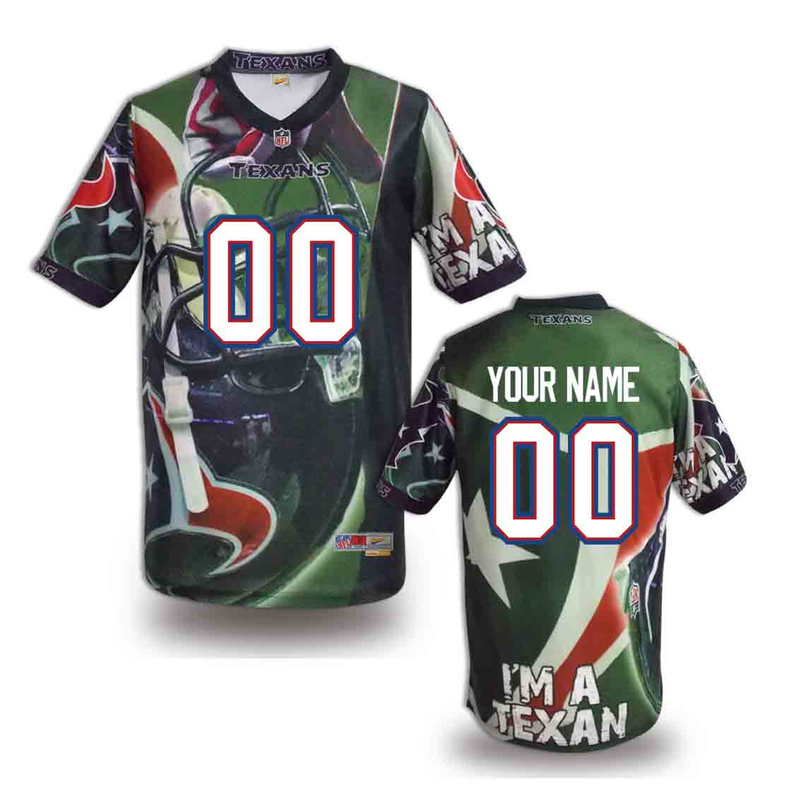 Nike Texans Customized Fashion Stitched Jerseys03