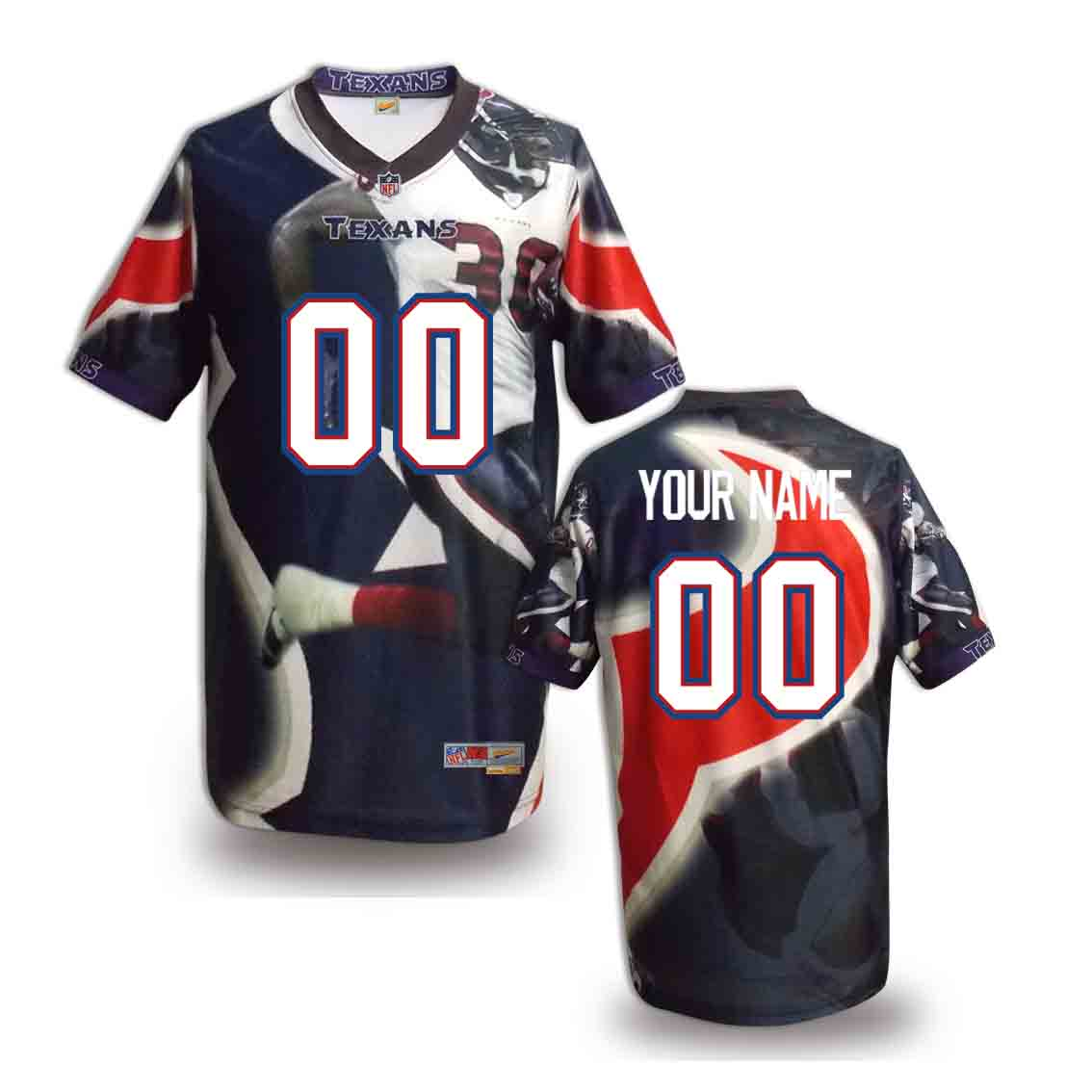 Nike Texans Customized Fashion Stitched Jerseys04