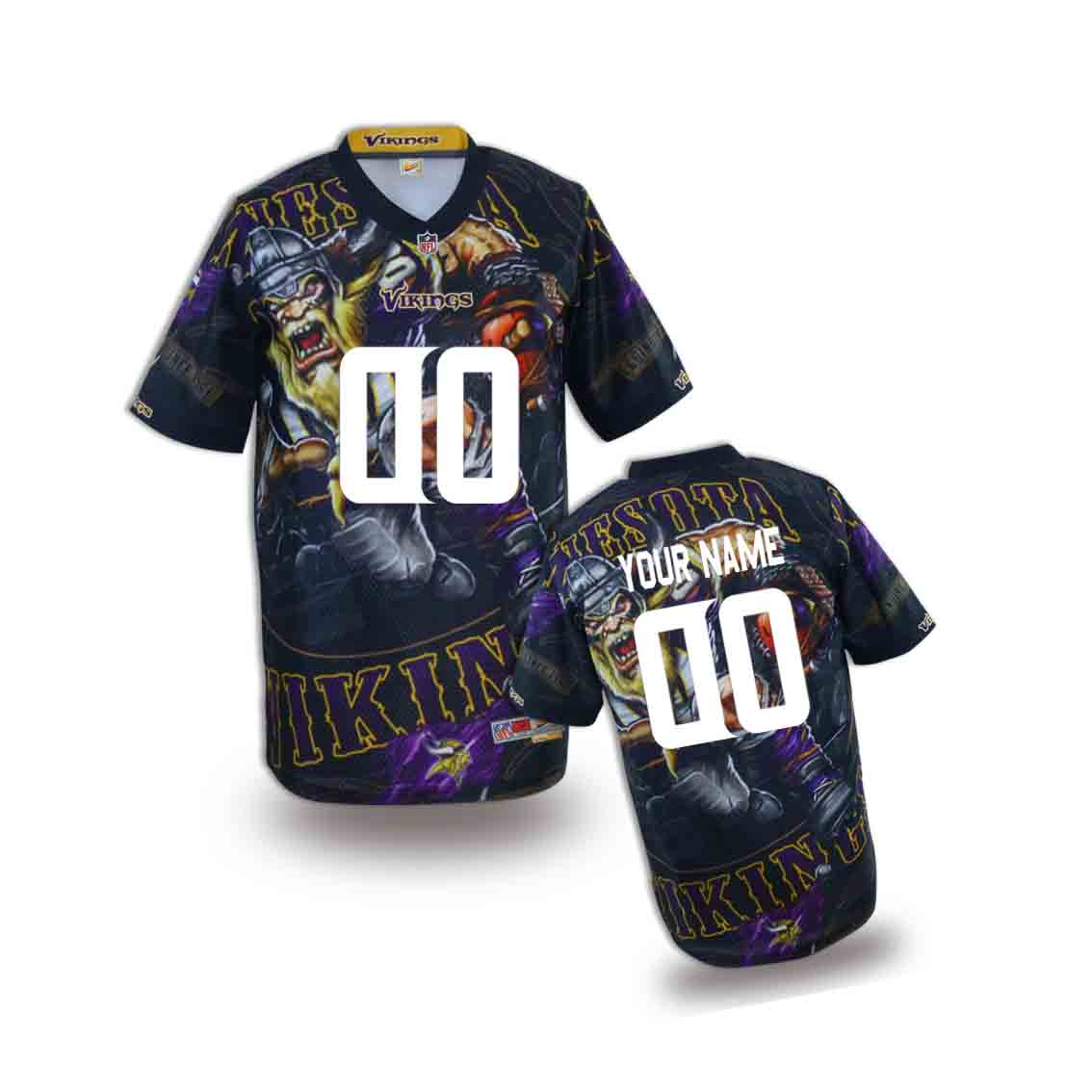 Nike Vikings Customized Fashion Stitched Youth Jerseys02