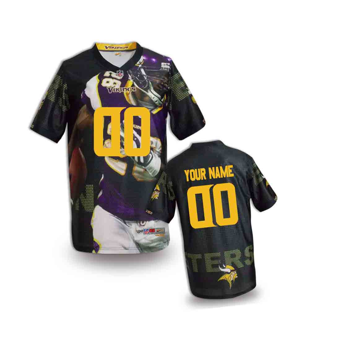 Nike Vikings Customized Fashion Stitched Youth Jerseys05