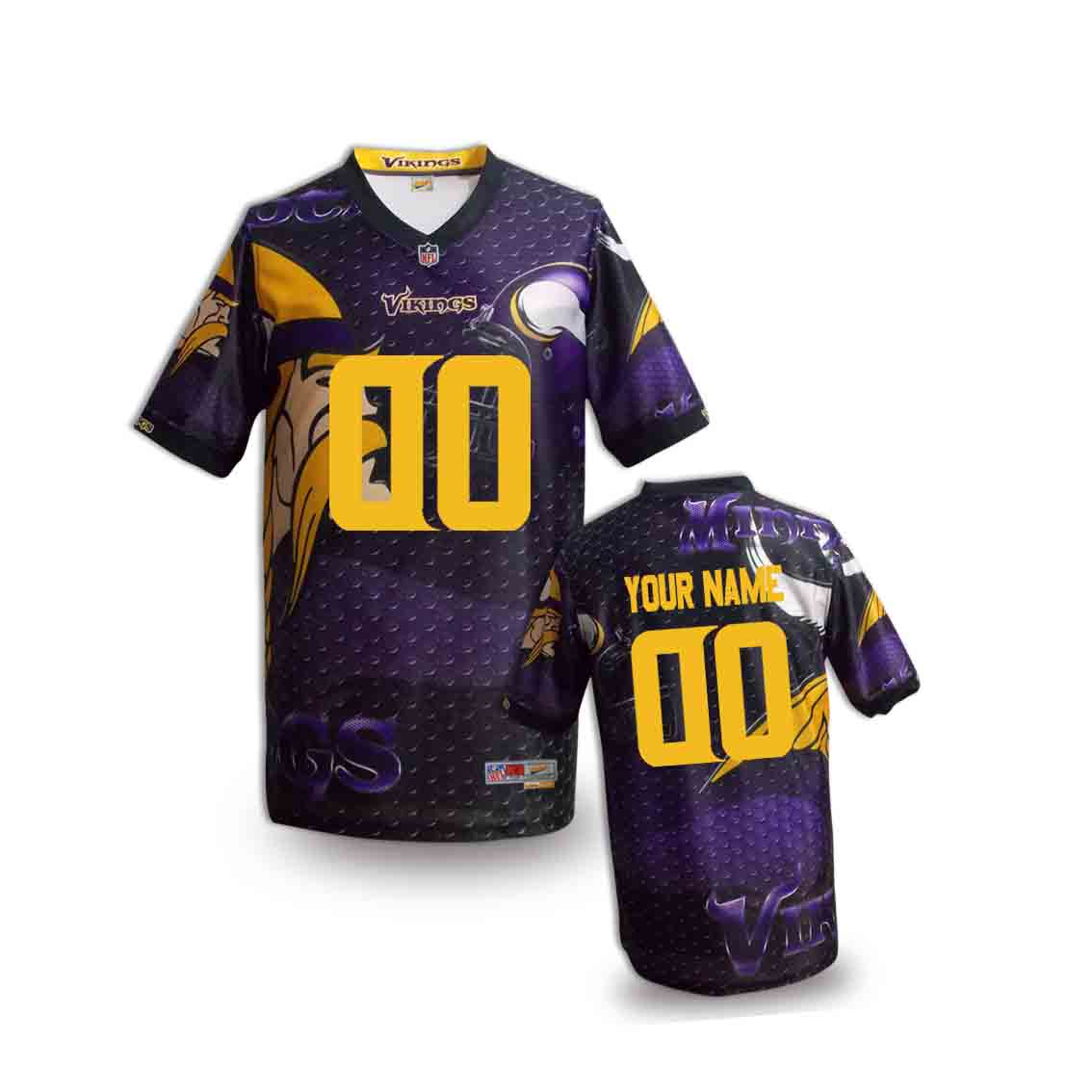 Nike Vikings Customized Fashion Stitched Youth Jerseys06