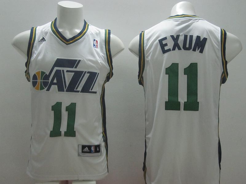 Jazz 11 Exum White New Revolution 30 Jerseys
