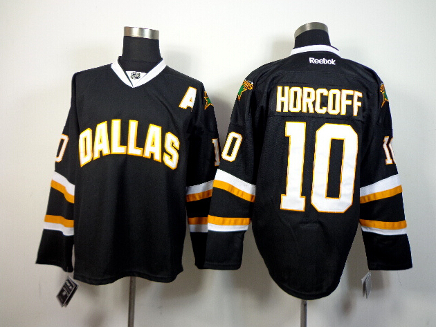 Stars 10 Horcoff Black Jerseys